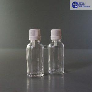 Botol Filler 30 ml Bening-Ring Segel Putih