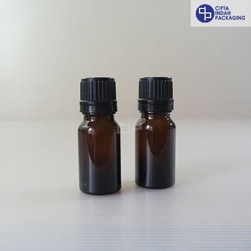 Botol Kaca Amber 10 ml Tebal-Filler Hitam