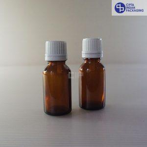 Botol Kaca Amber 15 ml-Filler Putih