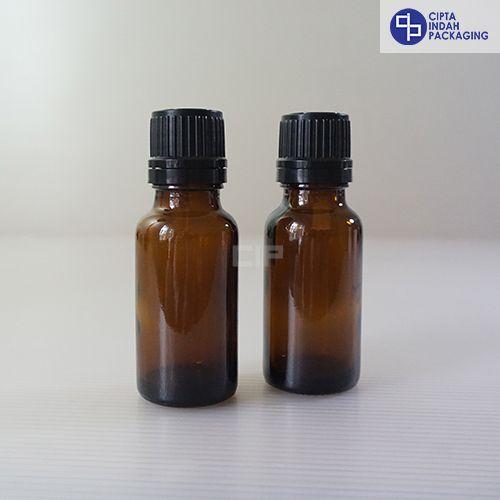 Botol Kaca Amber 20 Ml-Filler Hitam