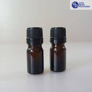 Botol Kaca Amber 5 ml Tebal-Filler Hitam
