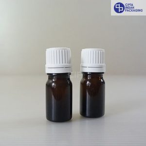 Botol Kaca Amber 5 Ml Tebal-Filler Putih