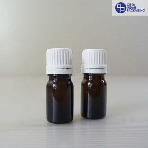 Botol Kaca Amber 5 Ml Tebal-Filler Putih