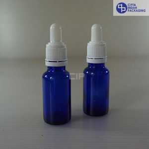 Botol Pipet 20 ml Biru-Ring Segel Putih