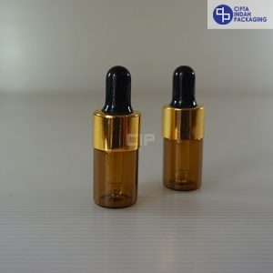Botol-Pipet-5ml-Coklat-Ring-Gold-Karet-Hitam-2
