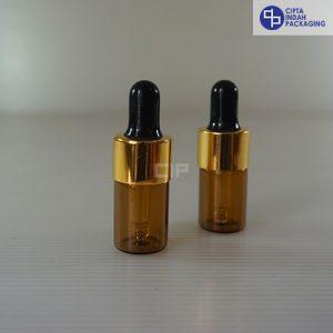 Botol-Pipet-5ml-Coklat-Ring-Gold-Karet-Hitam-2