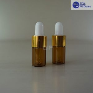 Botol Pipet 5 Ml Coklat–Ring Gold Karet Putih