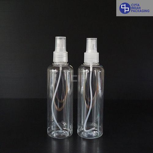 Botol Spray 250 ml-Bening-Tutup Transparan