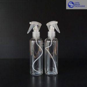 Botol Spray 250 ml-Bening-Tutup Trigger Transparan