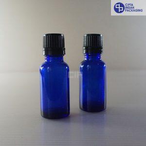 Botol Filler 20 ml Biru-Tutup Hitam