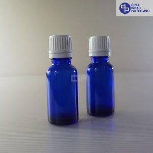 Botol Filler 20 ml Biru-Tutup Putih