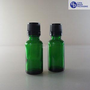 Botol Filler 20 ml Hijau-Tutup Hitam