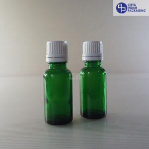 Botol Filler 20 ml Hijau-Tutup Putih