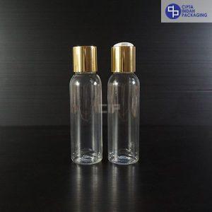 Botol Disctop 100 ml Bening-Tutup Gold Chrome
