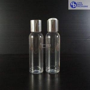 Botol Disctop 100 ml Bening-Tutup Silver Chrome