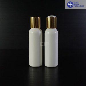 Botol Disctop 100 ml Putih-Tutup Gold Chrome