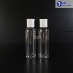 Botol Disctop 100 ml Bening-Tutup Putih