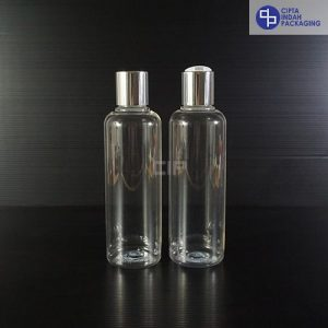 Botol Disctop 250 ml Bening-Tutup Silver Chrome