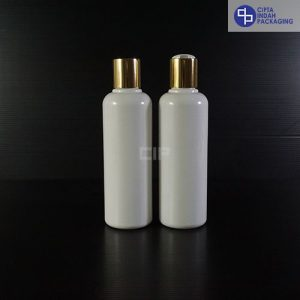Botol Disctop 250 ml Putih-Tutup Gold Chrome