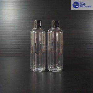 Botol Fliptop 250 ml Bening-Tutup Hitam