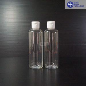 Botol Fliptop 250 ml Bening-Tutup Putih