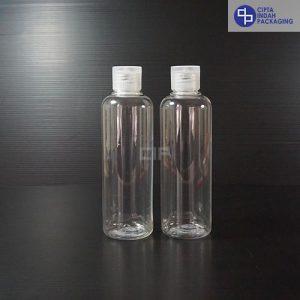 Botol Fliptop 250 ml Bening-Tutup Transparan