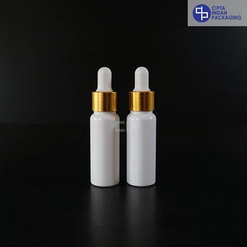 Botol Plastik Pipet 30 ml Putih-Ring Gold Karet Putih