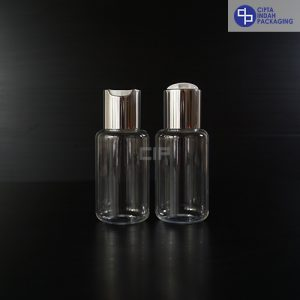 Botol Pet Disctop Silver 60 ml Tubular