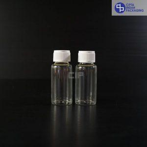 Botol Kaca 20 ml Bening-Tutup Ulir Putih