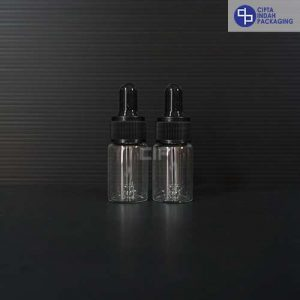Botol Pipet 10 ml Bening-Ring Hitam
