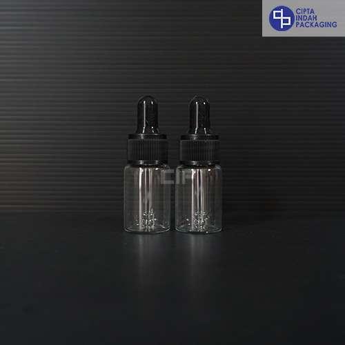 Botol Pipet 10 ml Bening-Ring Hitam