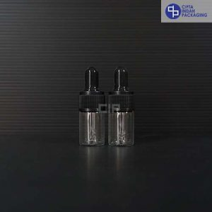 Botol Pipet 5 ml Bening-Ring Hitam