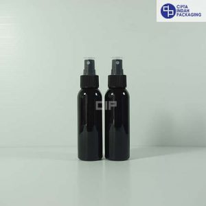 Botol Spray 100 ml Hitam-Tutup Hitam
