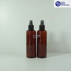 Botol Spray 250 ml Coklat-Tutup Hitam