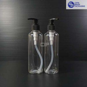 Botol Pump 250 ml Bening-tutup Hitam