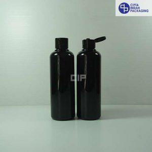 Botol Fliptop 250 ml Hitam-Tutup Hitam