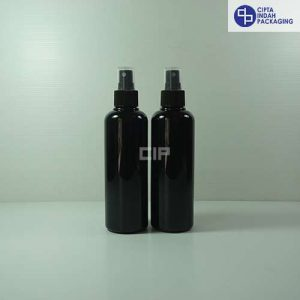 Botol Spray 250 ml Hitam-Tutup Hitam