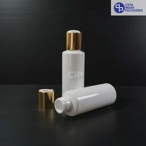 Botol Disctop 100 ml RF Putih -Tutup Gold Chrome (2)