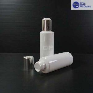 Botol Disctop 100 ml RF Putih -Tutup Silver Chrome (2)