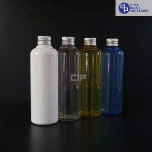 Botol Plastik 250 ml - Tutup Ulir Aluminium Silver