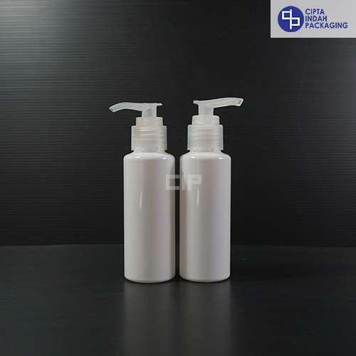 Botol Pump 100 ml RF Putih-Tutup Natural