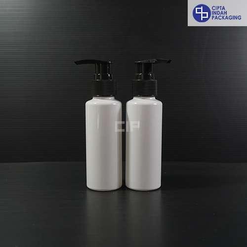 Botol Pump 100 ml RF PUTIH - Tutup Hitam