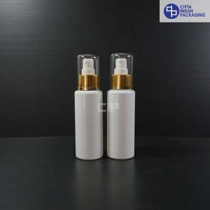 Botol Pump Treatment 100 ml RF Putih - Tutup Gold