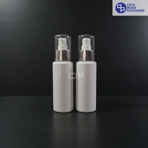 Botol Pump Treatment 100 ml RF Putih - Tutup Silver