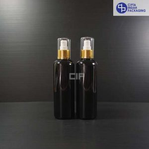 Botol Pump treatment 250 ml Hitam-tutup Gold