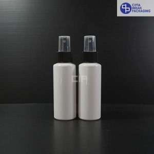 Botol spray 100 ml RF Putih - Tutup Hitam