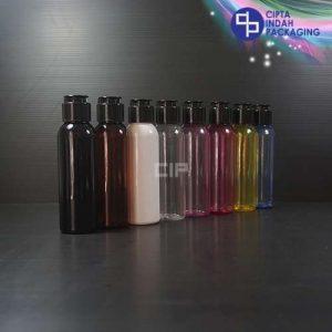 Botol Fliptop Topi 100 ml Warna-Tutup Hitam