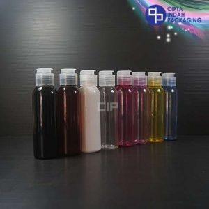 Botol Fliptop Topi 100 ml Warna-Tutup Natural