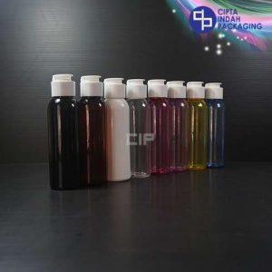 Botol Fliptop Topi 100 ml Warna-Tutup Putih