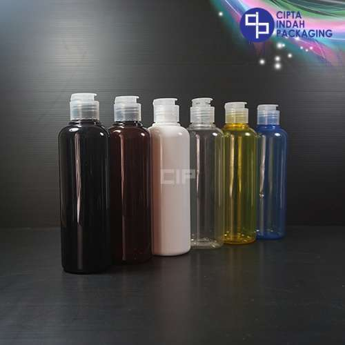 Botol Fliptop Topi 250 ml Warna-Tutup Natural